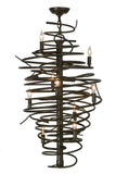 "21""W Cyclone 9 Lt Chandelier"