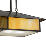 "36""L Double Bar Mission Oblong Pendant"