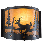 "12""W Deer Wildlife Wall Sconce"