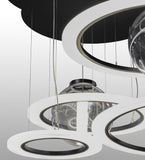 "84""W Anillo Bola LED Cascading Contemporary Pendant"