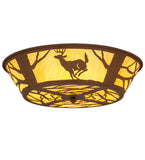 "22""W Deer On The Loose Wildlife Flushmount 