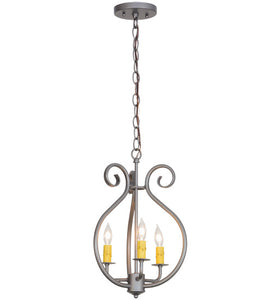 "12""W Easton 3 Lt Victorian Lodge Chandelier"