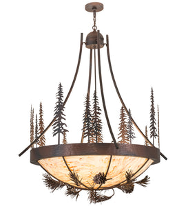 "50""W Lodge Tall Pines Inverted Pendant"
