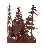 "11""W Elk Thru The Trees Rustic Lodge Wall Sconce"