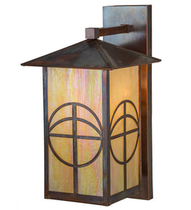 "10""W Seneca Circle Cross Solid Mount Outdoor Wall Sconce"