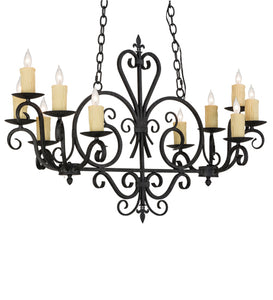 "42""L Kenneth 10 Lt Victorian Gothic Oblong Chandelier"