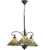 "30""W Willow Jadestone 3 Lt Tiffany Chandelier"