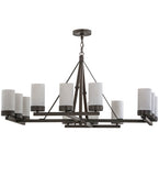 "48""W Parker 12 Lt Mission Chandelier"