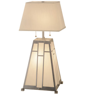 "31""H Double Bar Mission Table Lamp"