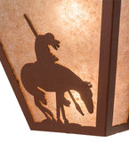 "13""W Trails End Southwest Wall Sconce"