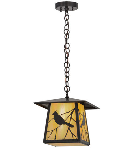 "11.5""Sq Stillwater Song Bird Outdoor Pendant"