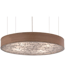 "36""W Cilindro Spiral Contemporary Ceiling Pendant"
