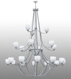 "84""W Everett 21 Lt Three Tier Contemporary Chandelier"