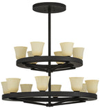 "57""W Loxley Piedmont 14 Lt Two Tier Contemporary Chandelier"