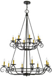 "45""W Estrella 16 Lt Two Tier Victorian Lodge Chandelier"