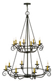 "45""W Estrella 16 LT Two Tier Chandelier"