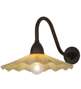 "16""W Metro Galatia Scalloped Beige Contemporary Wall Sconce"