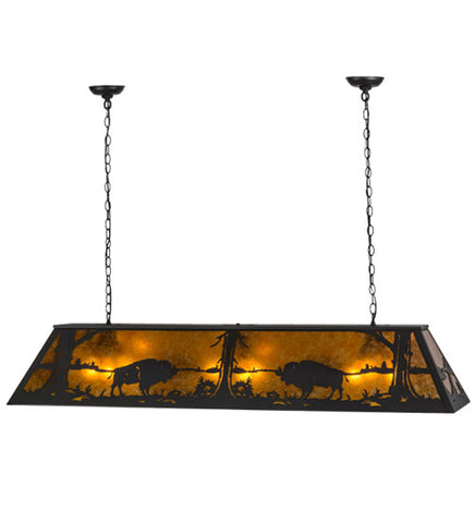"61""L Buffalo Lodge Island/Billiard Pendant"