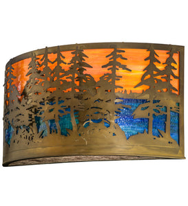 "36""W Tall Pines Sconce"