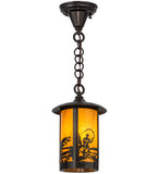 "8""W Fulton Fly Fisherman Outdoor Pendant"