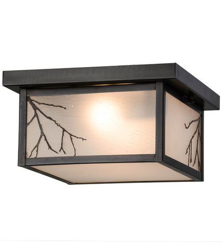 "12""Sq Hyde Park Branches Outdoor Flushmount"