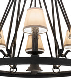 "28""W Lakeshore 6 Lt W/Downlight Chandelier"