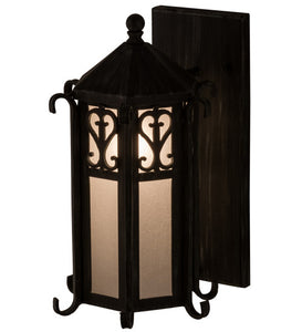 "9""W Caprice Lantern Outdoor Wall Sconce"