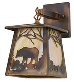 "7""W Bear Outdoor Hanging Wall Sconce"