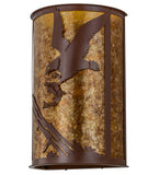 "13""W Strike of the Eagle Rustic Lodge Wildlife Wall Sconce"