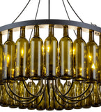 "38""W Tuscan Vineyard Estate 36 Wine Bottle Contemporary Chandelier"