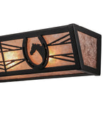 "30""W Horseshoe Western Vanity Light"