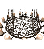 "62""W Newcastle 30 Lt Lodge Gothic Chandelier"