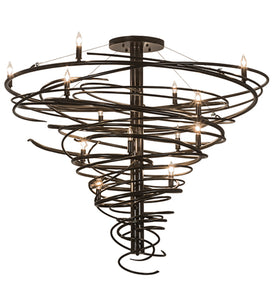 "48""W Cyclone 14 Lt Contemporary Chandelier 