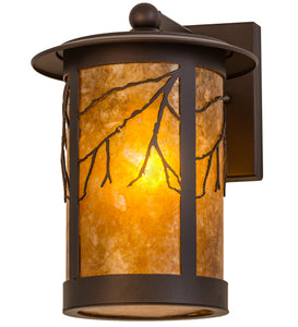 "8""W Branches Rustic Outdoor Wall Sconce"