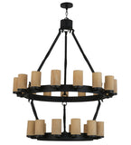 "48""W Noziroh Ring 27 Lt Two Tier Lodge Chandelier"