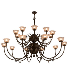 "80""W Perennial 20 Lt Arts & Crafts Chandelier"