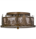 "16""W Tall Pines Lodge Flushmount"