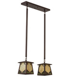 "24""L Kirkpatrick 2 Lt Mission Kitchen Island Lighting"