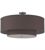 "30""W Cilindro Textrene Contemporary Two Tier Pendant"
