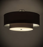 "30""W Cilindro Textrene Two Tier Contemporary Pendant"