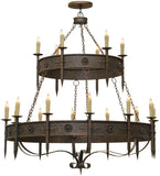 "69""W Calandra 18 Lt Two Tier Gothic Chandelier"