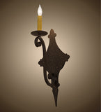 "8""W Angelique 1 Lt Gothic Lodge Wall Sconce"
