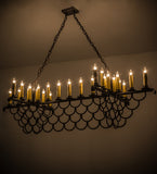 "71""L Picadilly 23 Lt Contemporary Lodge Oblong Chandelier"