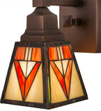 "5""W Otero Mission Stained Glass Wall Sconce"