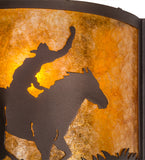 "12""W Cowboy Southwest Wall Sconce"