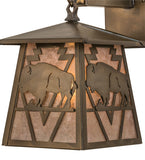 "7""W Lone Buffalo Wildlife Hanging Wall Sconce"