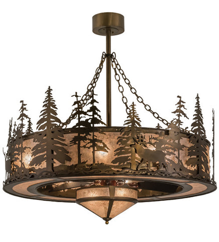 "44""W Elk At Dusk Chandel-Air Ceiling Fan"