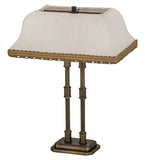 "12.5""W Templeton Contemporary Fabric Brass Bar Light"