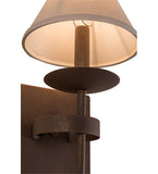 "7""W Bechar W/Fabric Shade Traditional Wall Sconce"