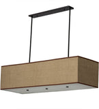 "59""L Quadrato Lounge Island/Billiard Mission Pendant"